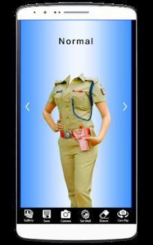 Woman Police Suit Photo Editor pc screenshot 1