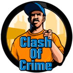 Clash of Crime Mad San Andreas for pc logo