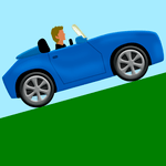 car mountain game icon