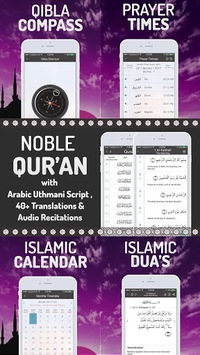 Islamic Calendar: Athan, Prayer time, Qibla, Quran pc screenshot 1