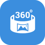 360 video player view Panorama 360 degree for pc logo