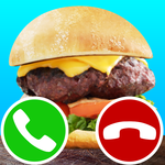 fake call burger game icon