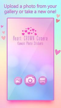 Heart Crown Camera - Kawaii Photo Stickers pc screenshot 1