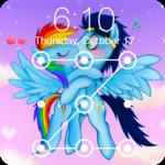 Pony Love Valentine Rainbow AppLock Security icon