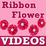 Ribbon Flower Craft Making icon