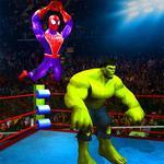 Superhero Wrestling Battle Arena Ring Fighting icon