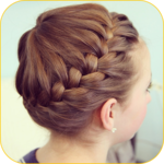 Hairstyle for cute girls 2017 Hairstyle at home icon