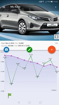 MyFuelLog2 - Car maintenance & Gas log pc screenshot 1