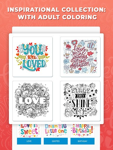 Inspirational Quotes Coloring Pages for Adults pc screenshot 1