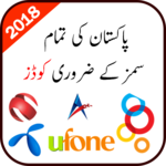 All Sim Important Codes of Pakistan 2018 icon