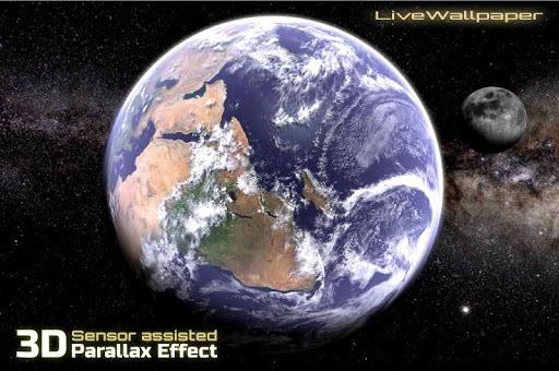 Earth & Moon in HD Gyro 3D Parallax Live Wallpaper pc screenshot 1