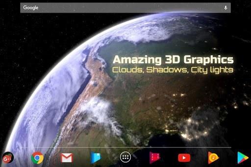 Earth & Moon in HD Gyro 3D Parallax Live Wallpaper pc screenshot 2