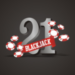 Blackjack 21 card game icon