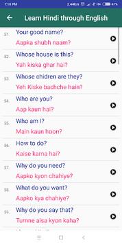 Learn Hindi through English pc screenshot 2