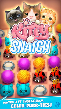 Kitty Snatch - Match 3 ft. Cats of Instagram game pc screenshot 1