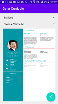 Professional Resume Vitae pc screenshot 1
