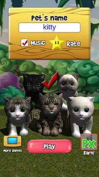 Talking Kittens virtual cat that speaks, take care pc screenshot 2