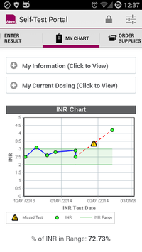 Alere CoagClinic® Self-Test Portal pc screenshot 1