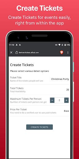 Allcal Tickets + Event Planner PC screenshot 1