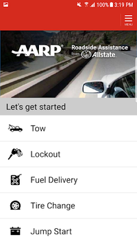 AARP Roadside from Allstate pc screenshot 1