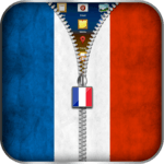 France Flag Zipper Lock icon