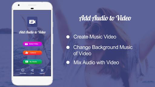 Add Audio to Video : Audio Video Mixer pc screenshot 1