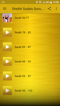 Sheikh Sudais Quran MP3 pc screenshot 1