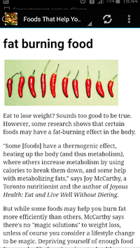fat burning meals pc screenshot 2
