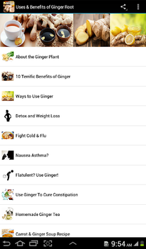 Uses & Benefits of Ginger Root pc screenshot 1