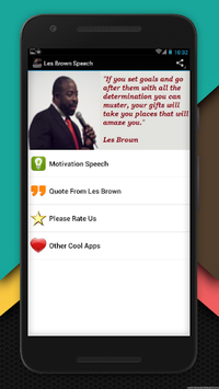 Les Brown Motivation Speech pc screenshot 1