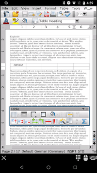 AndrOpen Office pc screenshot 2