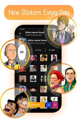 Anime Memes Stickers For WhatsApp 2021 PC screenshot 1