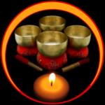 buddhist singing bowl Chakras icon