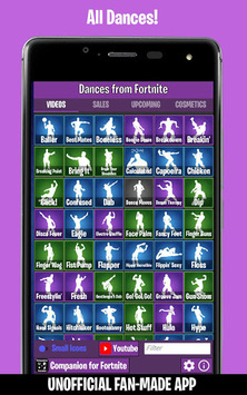 Dances from Fortnite (Emotes, Skins, Daily Shop) pc screenshot 1