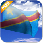 3D DR Congo Flag Live Wallpaper icon