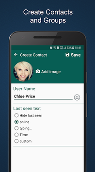 WhatsMock - Fake Chat Maker pc screenshot 2