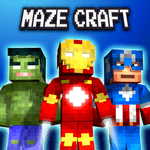 Maze Craft : Pixel Heroes for pc logo