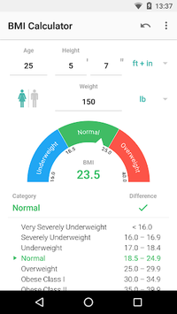 BMI Calculator pc screenshot 1
