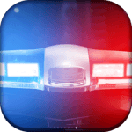 Police siren light & sound icon