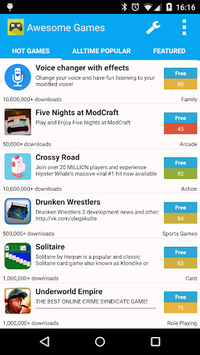 AppBrain Awesome Games pc screenshot 1