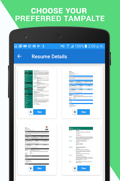 Professional Resume Maker & CV builder- PDF format pc screenshot 1