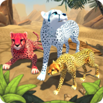 Cheetah Family Sim icon