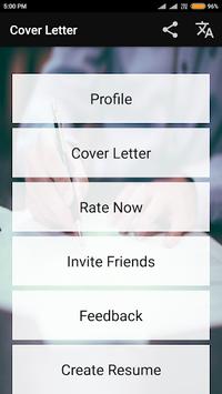 Cover Letter Maker for Resume CV Templates app pc screenshot 1