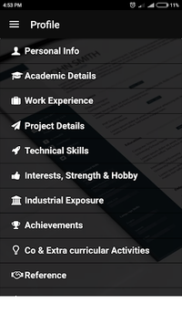 Resume builder Free CV maker templates formats app pc screenshot 2