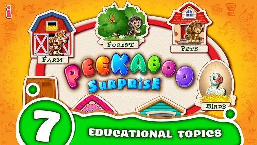 Peekaboo! Baby Smart Games for Kids! Learn animals pc screenshot 1