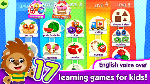 FunnyFood Kindergarten learning games for toddlers pc screenshot 1