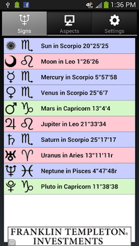 Moon Phases and Zodiac Aspects pc screenshot 1