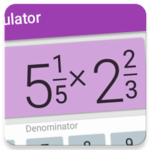 Fractions Calculator - detailed solution available for pc logo