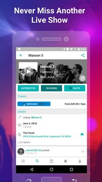 Bandsintown Concerts pc screenshot 2