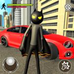 Bat Rope Hero Stickman Crime - Gangster Mafia Game icon